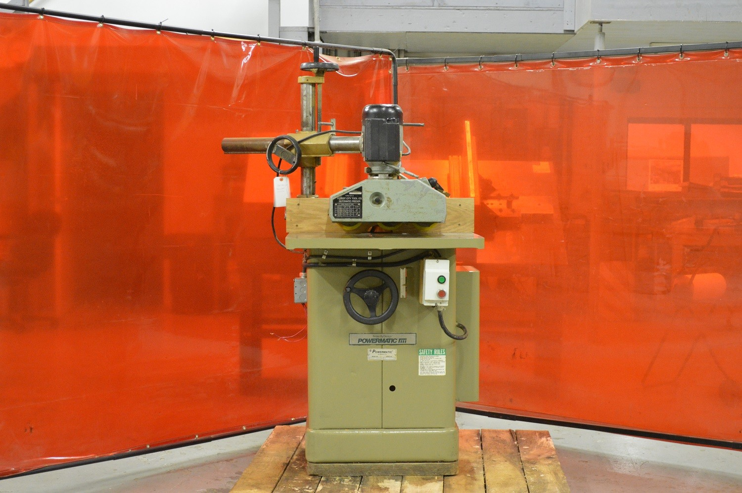 Powermatic Single/Double Shaper W/ 3-Roll Power Feed - Photo 1